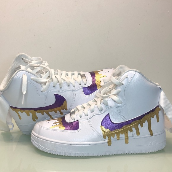 Nike Shoes Drip For Sale Custom Metallic Air Force Ones Af1